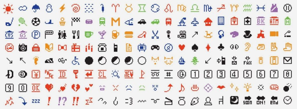Spot the faces: Shigetaka Kurita's original emoji set